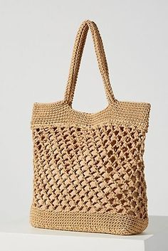 Bags - Handbags, Purses & More Bags - Handbags, Purses & More A . - Bags – Handbags, Purses & More Bags – Handbags, Purses & More Anthropology … - Crochet Market Bag, Crochet Tote, Crochet Handbags, Crochet Purses, Crotchet Bags, Knitted Bags, Bag Pattern Free, Tote Pattern, Net Bag