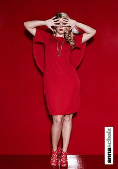 annascholz red crepe cape dress http://www.annascholz.com/new-arrivals/crepe-jersey-cape-dress-7.html