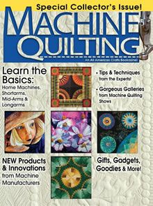 """Machine Quilting"" bookazine (from All American Crafts)"