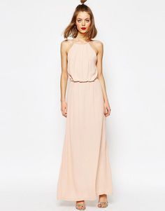 Image 1 of Samsoe & Samsoe Willow Maxi Dress with Lace Inserts