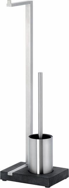 blomus Toilettenbutler »Menoto« ab 129,99€. Material: Edelstahl, Polystone, Maße (B/T/H): 15/20/64,5 cm, WC- Papier und WC- Bürste auf einen Griff bei OTTO