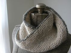 Easy Gray-Trimmed Cowl