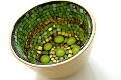 Green Apple Mosaic Bowl - FREE SHIPPING Within US · EarthMotherMosaics · Online Store Powered by Storenvy