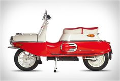 Cezeta 506 iconic motor scooter brought into the century with an electric motor. Retro Scooter, E Scooter, Vintage Motorcycles, Cars And Motorcycles, Triumph Motorcycles, Custom Motorcycles, Scooter Images, 50cc Moped, Dirt Bike Girl