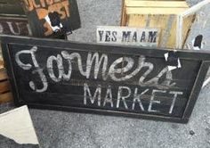 Vintage look distressed Farmers Market Sign with natural wood edging/Kitchen/Black White/grocery Farmers Market Sign, Farmers Market Recipes, Kitchen Signs, Kitchen Wall Art, Black Kitchens, Kitchen Black, Wood Edging, Bakery Store, Flowers For You