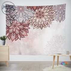 68 x 80 KESS InHouse Original Ombre Cherries Pink Abstract Wall Tapestry