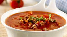 Tomatsuppe med kjøttdeig - Rask - Oppskrifter - MatPrat