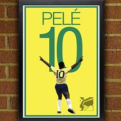 Pele Poster - Brazil Soccer Art. Brazil Poster: Pele Art Poster. Brazilian Artwork Sizes Available: 8.5x11 inches 13x19 inches Poster printed on 100% acid-free premium archival fine art paper. The image comes with 1/2 inch white border border all around for easy framing. All items are shipping in rigid mailing tube to ensure it arrives in good condition.