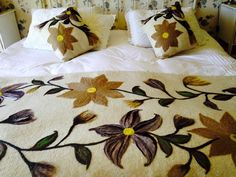 Punch Needle, Bed Covers, Bed Pillows, Pillow Cases, Embroidery, Quilts, Blanket, Poufs, Home Decor