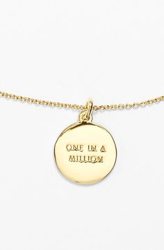 This lovely gold Kate Spade necklace is perfect for every day wear.
