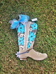 Cowboy Boot Door Hanger by DistressedAccents on Etsy, $37.00
