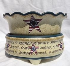 Americana Ceramic Star Electric Warmer on Etsy