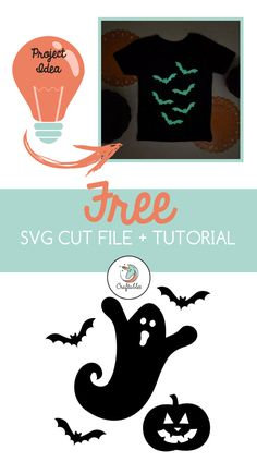 Spooky ghost SVG cut files for the Silhouette Cameo and Cricut. Craftables: Fast shipping, responsive customer service, and quality products Halloween Vinyl, Halloween Silhouettes, Halloween Kids, Ghost Silhouette, Silhouette Clip Art, Silhouette Portrait, Vinyl Projects, Diy Craft Projects, Diy Crafts