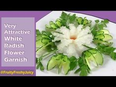 Very Fresh Cucumber Rose Flower Design Garnish - How To Make Cucumber Rose - YouTube