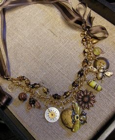 Bee Jewelry Honey Bee Necklace Bumble Bee by FernStreetDesigns