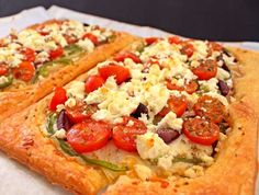 Greek Salad Puff Pastry Pizza