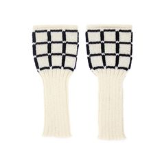 Back to Memphis | MARGOT & ME | Long Fingerless Gloves Lucy | Armwarmers in Fair Isle Technique | white and black grid pattern