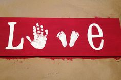Love this! 517 creations: {DIY}: LOVE hand and footprints