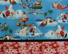 Pillowcase Kit Blue Santa