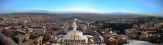 Roma desde Basilica de San Pedro, Italia