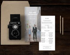 Wedding Photographer Rack Card by Design by Bittersweet on @creativemarket