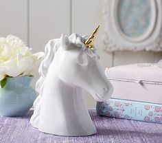Ceramic Unicorn Piggy Bank | Pottery Barn Kids