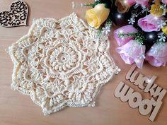 Crochet Poncho Patterns, Doily Patterns, Crochet Potholders, Crochet Doilies, Crochet Shoes, Diy Crochet, Russian Crochet, Crochet Diagram, Knitting