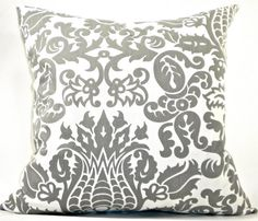 Gray Damask Design Decorator Pillow Cover  Gray by StudioPillow, $28.00