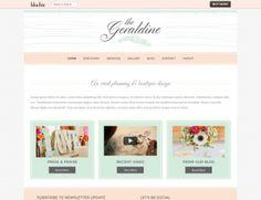 Beautiful Geraldine WordPress Theme from BluChic