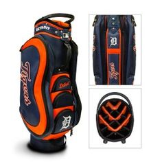 Bring some team spirit to the golf course with this NFL Medalist Golf Cart Bag. This golf bag features your favorite football team's colors and logos. Made out of durable 210 PU-backed and UV-treated rip-stop nylon, this golf bag is perfect for any fan. Auburn Tigers, Detroit Tigers, Golf Bags For Sale, Mlb Giants, Golf Stand Bags, Nfl Chicago Bears, Auburn University, Cincinnati Bengals, Golf Accessories