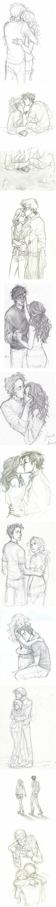 Drawing a couple - perfect for my books! (I earased the third picture due to a tiny bit of innapropriat stuff)