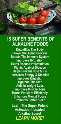 15 Super Benefits of Alkaline Foods. Learn about Zija's potent alkaline rich Moringa based weight loss products that help your body detox, increase energy, burn fat, and lose weight more efficiently. Get our FREE eBook with suggested fitness plan, food diary, and exercise tracker. Look and feel your best with Zija! LEARN MORE #FatBurning #WeightLoss #Diet #Alkaline #Antioxidants #Health #Benefits
