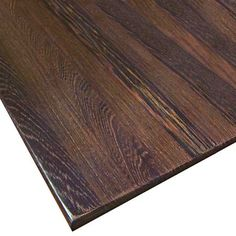 wenge, another dense African wood, will hide knife marks, and it won't warp even when laid on the flat