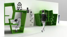 Very cool concept for how modules can be designed to offer multiple functions for work and play.