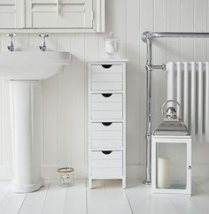 Dorset narrow free standing bathroom cabinet with 4 storage drawers  sc 1 st  Pinterest & Maine Narrow tall Freestanding Bathroom Cabinet with 6 drawers for ...