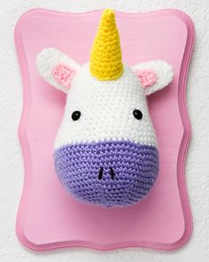 """Taxidermystyle Unicorn Head by Sarapod on Etsy, $35.00 - Henry saw this and said, """"cute, cute, cute""""."""