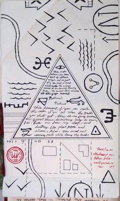 Gravity Falls Journal 3 Replica - Conspiracy Map by leoflynn.deviantart.com on @DeviantArt