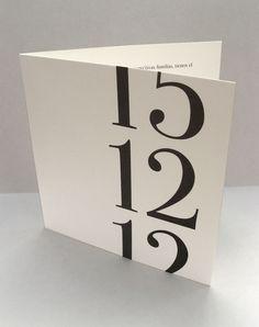 Un trabajo tipográfico que intenta apartar los convencionalismos de las invitaciones de boda » Blog del Diseño