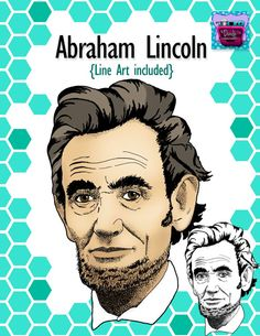 Realistic Abe Lincoln Clipart/Line art  http://www.teacherspayteachers.com/Product/Abraham-Lincoln-Realistic-clip-art-Line-art-Famous-Figures-Series-1279563