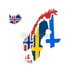 scandinavia flags and maps vector - Buy this stock vector and explore similar vectors at Adobe Stock