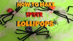 HALLOWEEN Tutorial Tuesday Ep.8 - How to Make Spider Lollipop DIY