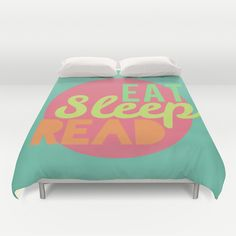 Eat Sleep Read Duvet Cover | 32 Ways To Turn Your Home Into A Book Lover's Paradise