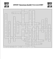AP US History Vocabulary Review American Zenith Crossword Puzzle APUSH Social Studies Activities, Learning Activities, Teaching Resources, Ap Test, Test Prep, Ap Us History, American History, High School Classroom, School Levels