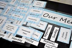 Magnetic menu planner - love this idea!