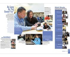 50 Creative Yearbook Layouts for K - 12 | Yearbook layouts ...  |Academic Spreads For Yearbook Ideas