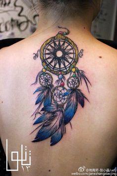 Dream catcher Tattoo by Judy Zhang tattoo artist from is da cLicK. All Tattoos, Tattos, Piercing Tattoo, Piercings, Dream Catcher Tattoo, Cool Tats, Guangzhou, Dreamcatchers, Street Artists