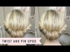 Twist and Pin Updo by SweetHearts Hair - YouTube