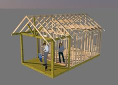 Working on shed plans for this 12x16 gable shed with 6' front porch.