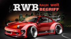 PORSCHE 911   RWB  Rauh Welt Begriff tuning   - Time Lapse Desenho autom...