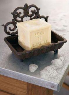 Porte savon en volute de fer forgé Comptoir de Famille